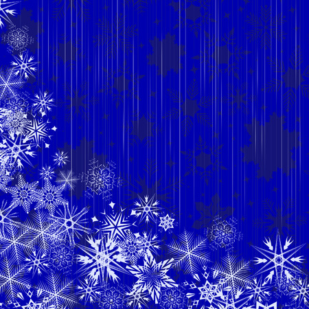 Winter blue background with snowflakes.  illustration Vector
