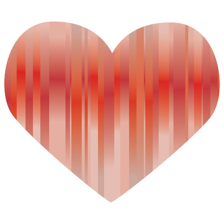Red heart, isolated on a white background Vector