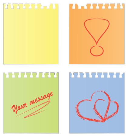 pad pen: Conjunto de un documento vac�o y un documento con notas