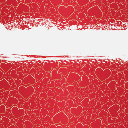 Seamless grunge background with hearts. illustration