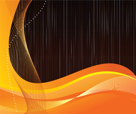 Abstract orange background with waves Stock Vector - 8609973