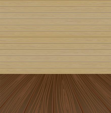Classical wooden interior Illustration