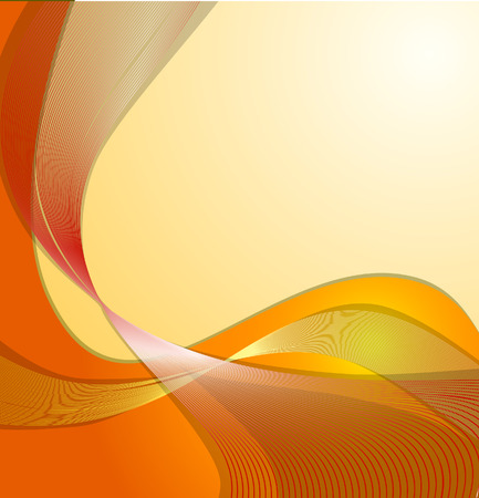 Abstract orange waves - project for business - cards Illustration