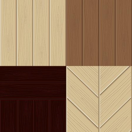 flooring design: Set of wooden structures.  illustration Illustration