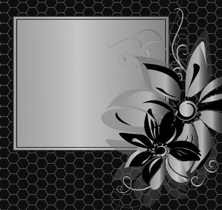 Floral vintage frame.  illustration.  Vector