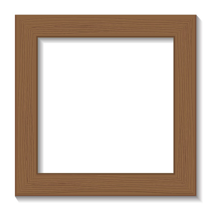 Framework for a photo, isolated on a white background. Vector illustration