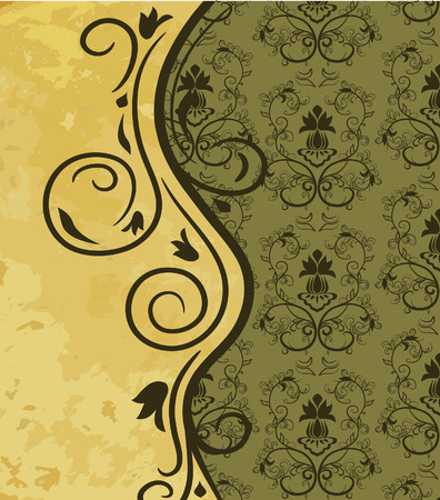 free place: Vintage background with floral pattern. Vector illustration