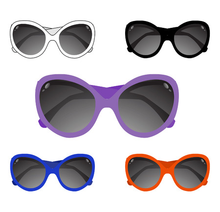 Collection of sun glasses. Vector illustration Stock Vector - 9029902