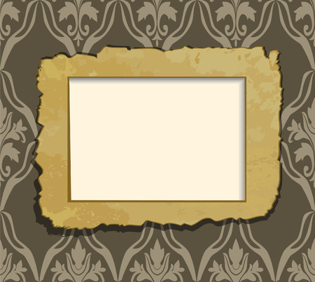 Old frame on vintage background. Vector illustration Vector