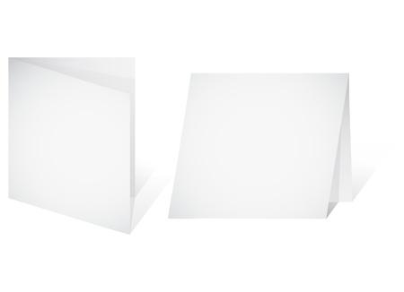 Empty banner - a paper blank leaf. Vector illustration Stock Vector - 9145180