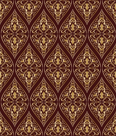Vintage gold seamless pattern. Vector