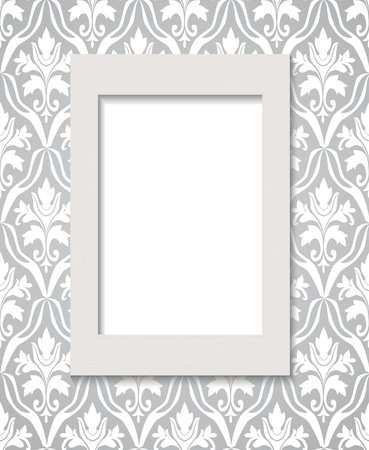 Empty framework against wallpaper Stock Vector - 9256089