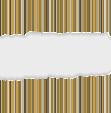 notebook paper background: Teared paper with place for your own text. Vector
