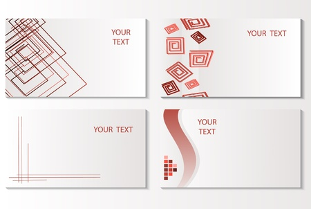 Vector business card set. Vector illustration Stock Vector - 9523551