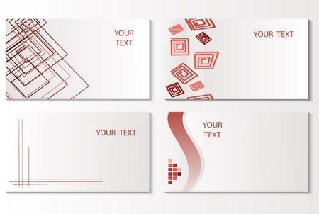 Vector business card set. Vector illustration Illustration