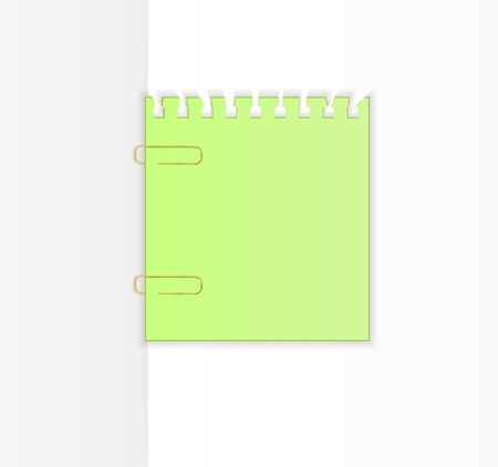 The empty sheets of paper fastened by a paper clip. Vector illustration Stock Vector - 9613205
