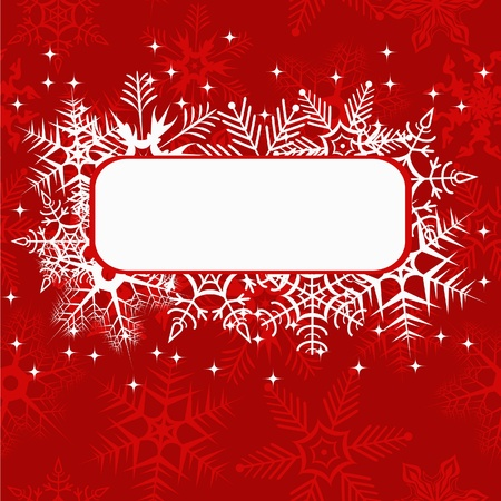 Red xmas banner. Vector illusration Vector