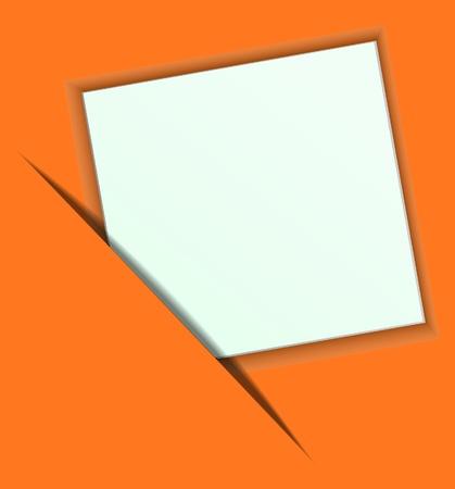 Paper on a orange background. Illustration