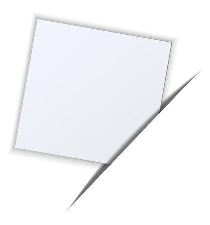 Paper on a white background Illustration