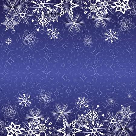 Xmas blue banner.  Vector