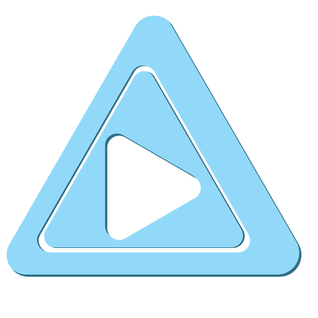 The sample with triangle. Vector illustration