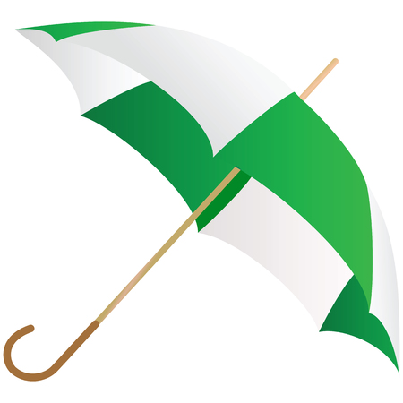 personal accessories: The green umbrella represented on a white background Illustration