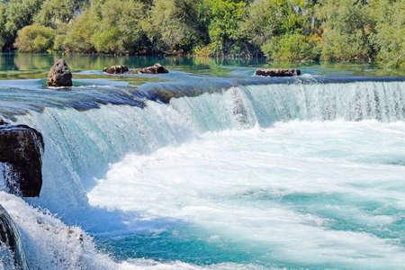 Waterfall on Manavgat River In Turkey.