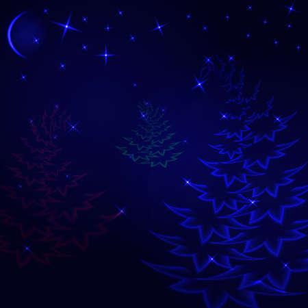 Bosque mágico de la Navidad Foto de archivo - 70740319