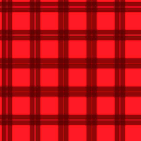 Fabric in red and black fiber seamless pattern tartan. vector background Illustration