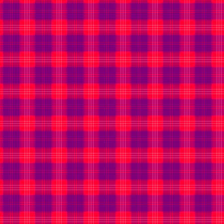 Fabric in red and blue fiber seamless pattern tartan. vector background Illustration