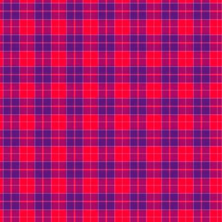 赤と青の繊維のシームレスなパターンのファブリック 写真素材