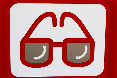Icon on a white background points, meaning optometrist photo