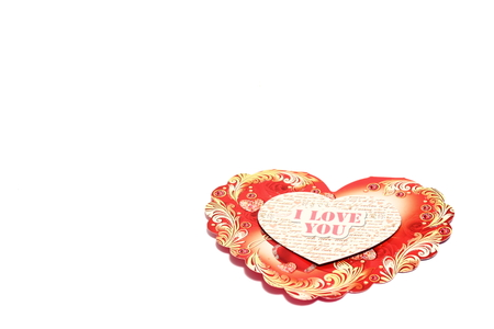 postal card: greeting postal card for Valentines Day Stock Photo