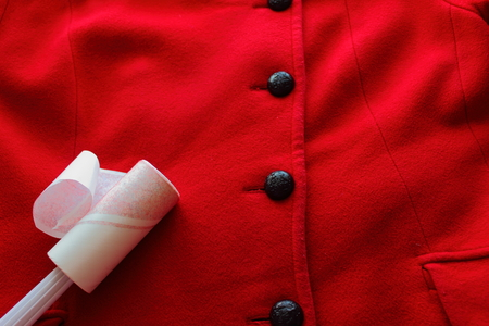 lint: proper care of the coat using Lint Rollers