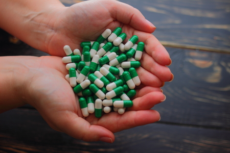 prophylactic: in the hands of a large number of capsules