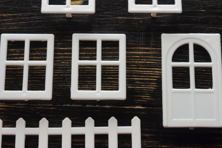windows and doors: windows, doors, fence for the house of the constructor