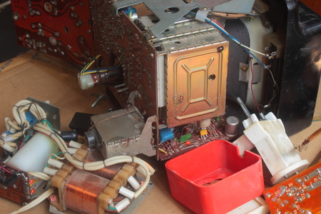 outmoded: are old unwanted electrical components