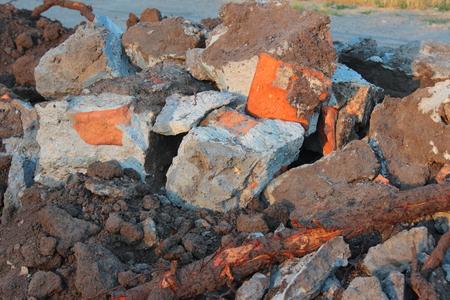 broken hill: Hill is broken stones of different shapes