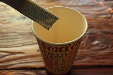 sachets: poured into a glass of sugar sachets