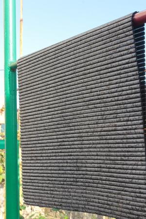 floor mat: closeup outdoor drying floor mat Stock Photo