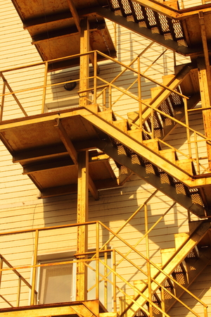 steps and staircases: closeup outdoor metal staircase lifting up