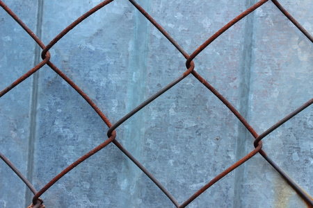 metal mesh: old rusty metal mesh wire Stock Photo