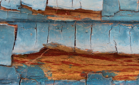 bstract: texture of the old wooden frames with paint peeling off