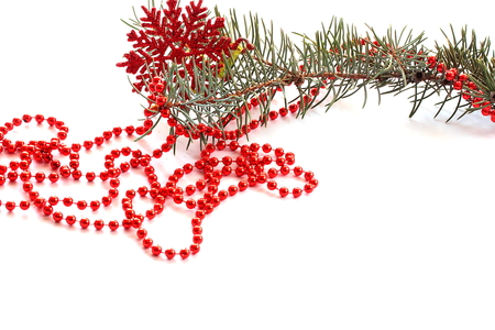 christmas beads: isolated on a white background Christmas beads
