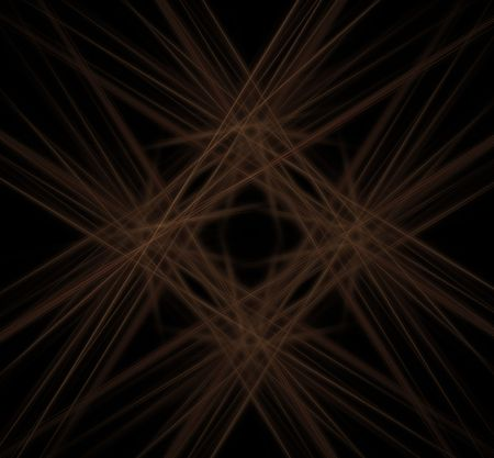 angles: fractal in a chaotic rays of light shining from different angles
