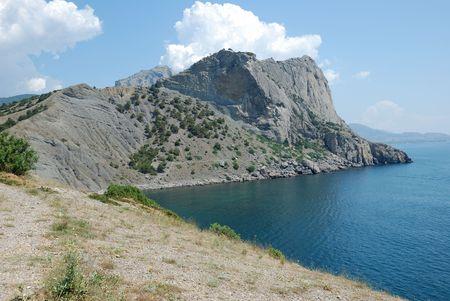 Fine kind on cape Hoba Kaja. Green. A blue smooth surface of Black sea in Crimea. Stock Photo - 5610867