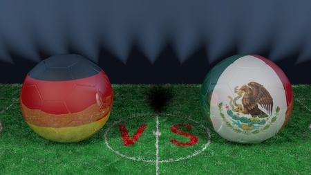 Germany versus Mexico.