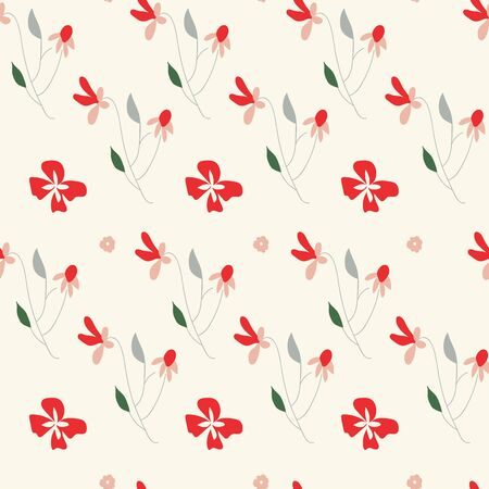 romantic floral seamless vector pattern 일러스트