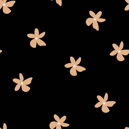 70s vintage retro floral seamless vector pattern