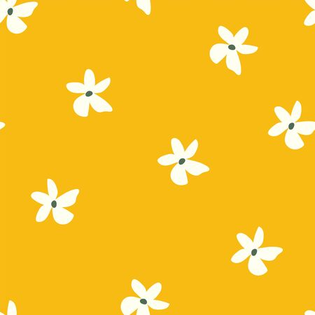 mustard 70s retro and vintage seamless vector pattern